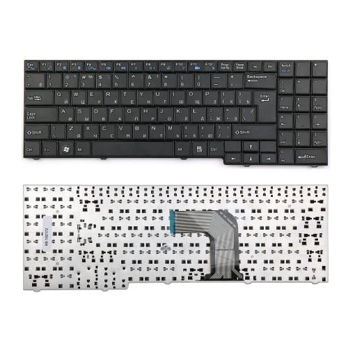 Клавиатура для ноутбука DNS ECS MB50, MB50II, MB50IA1 Series. Г-образный enter. Черная, без рамки. PN: 82B382-FM2028, MP-09R16SU-3603.