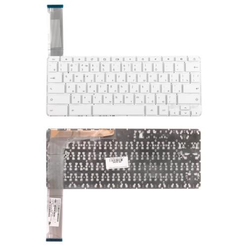 Клавиатура для ноутбука HP 14-ak  Series. Плоский Enter. Белая, без рамки. PN: 9Z.NBTSQ.00R.