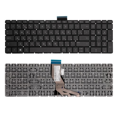 Клавиатура для ноутбука HP Pavilion 250 G6, 255 G6, 258 G6 Series. Плоский Enter. Черная, без рамки. PN: 925008-001.
