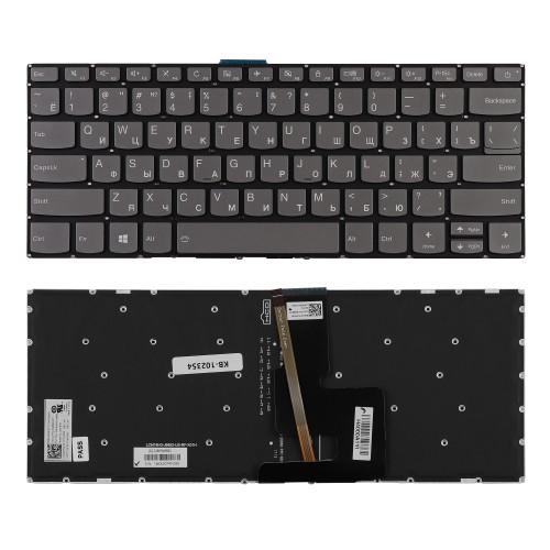 Клавиатура для ноутбука Lenovo IdeaPad 320-14ISK Series. Плоский Enter. Черная, без рамки. PN: PK131YN1B05