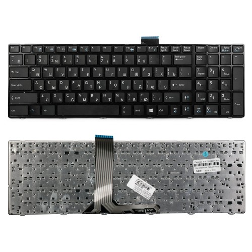 Клавиатура для ноутбука MSI MegaBook GE60, GE70 Series. Плоский enter. Черная, с рамкой. PN: V123322CK1, V123322IK1.