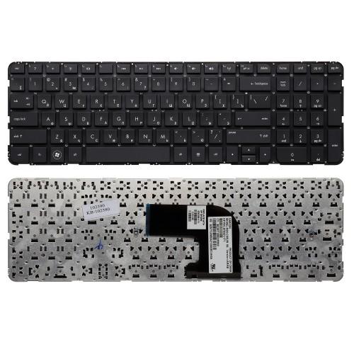 Клавиатура для ноутбука HP Pavilion HP Pavilion DV6-7000, DV6-7100 Series. Плоский Enter. Черная, без рамки. PN: NSK-CK0UW.