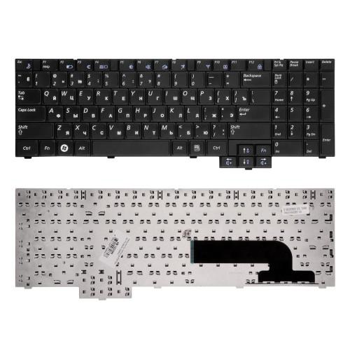 Клавиатура для ноутбука Samsung X520, NP-X520-FA01UA, NP-X520-FA02UA Series. Плоский Enter. Черная, без рамки. PN: V106360BS1.