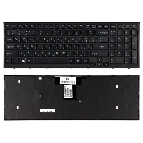 Клавиатура для ноутбука Sony VPC-EB, PCG-71211 Series. Плоский Enter. Черная, с рамкой. PN: 148792871, V111678A, 550102M14-203-G.