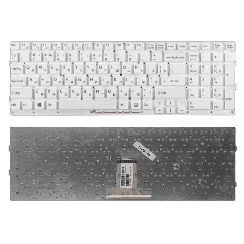 Клавиатура для ноутбука Sony VPC-EB Series. Плоский Enter. Белая, без рамки. PN: 148792871.