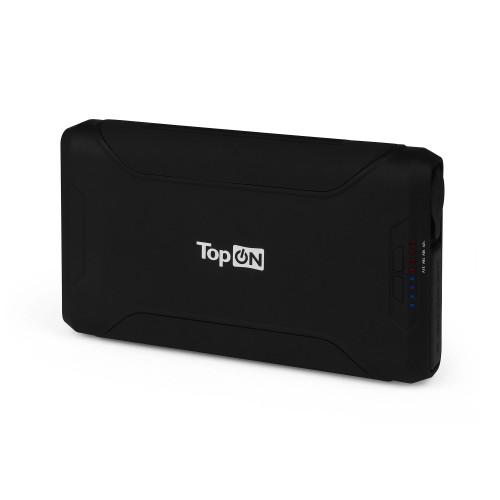 Внешний аккумулятор TopON TOP-X72 72000mAh 2 USB-порта, автомобильная розетка 180W, набор для зарядки ноутбуков, аварийный свет, фонарь. Черный