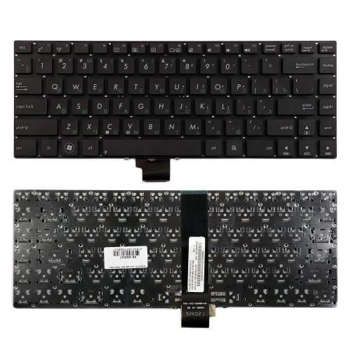 Клавиатура для ноутбука Asus K45, U46, U44, U43F Series. Плоский Enter. Черная, без рамки. PN: V111362DS1.