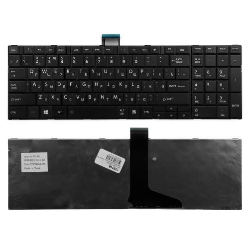 Клавиатура для ноутбука Toshiba C850, L850, P850 Series. Плоский Enter. Черная, без рамки. PN: MP-11B96SU-528.