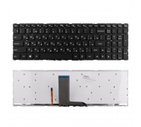 Клавиатура для ноутбука Lenovo Yoga 500-15IBD Series. Плоский Enter. Черная, без рамки. С подсветкой. PN: SN20G90940.