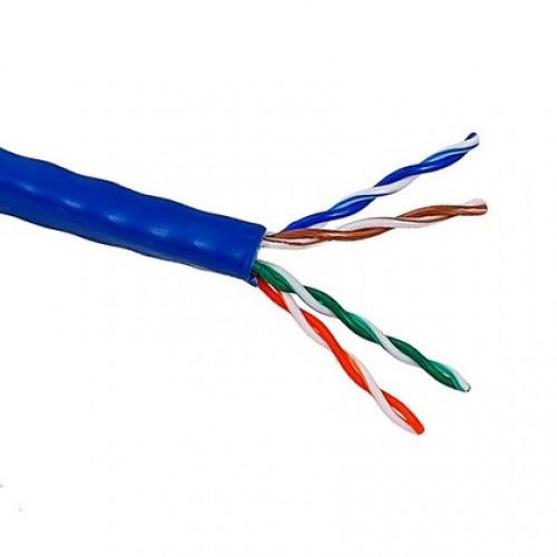 Кабель UTP патч-кордовый, 4 пары, Кат. 5e, синий, 305м в кат., LANMASTER