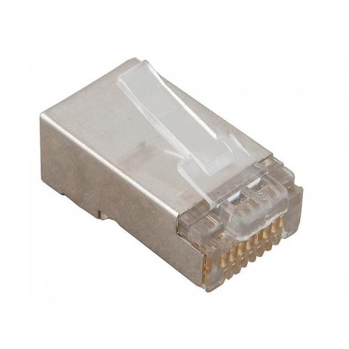 Коннектор RJ-45 8P8C FTP Кат. 5e TWT, экранированный, для многожильного кабеля, 100 шт. в упак. TWT-PL45/S-STR
