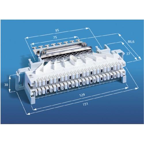 Плинт LSA-PROFIL 2/8х3 с нормально замкнутыми контактами