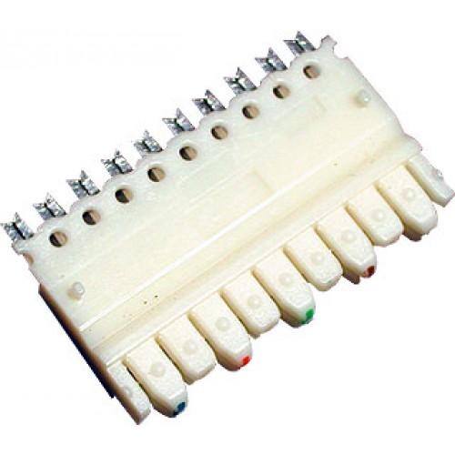 Соединительный модуль 110 типа на 5 пар, AMP, категория 5e для одно- или многожильного кабеля 22-26