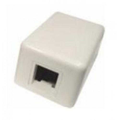 Коробка настенная Modular Jack Boxes на 1 кейстоун, белая, АМР