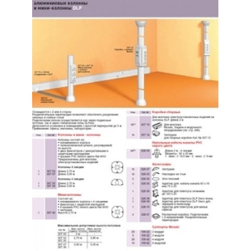 Суппорт Legrand 30639 Mosaic на 6 модулей для мини-колонн DLP 3.9 м