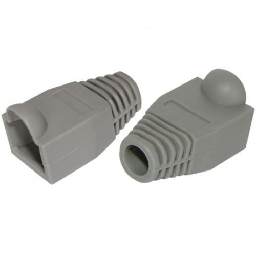 Защитный колпачок RJ-45 для кабеля диаметром до 5,33 мм, серый, AMP, 100 шт. в упак.
