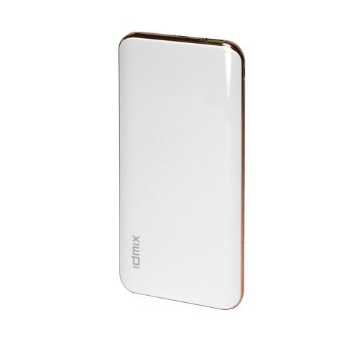 Внешний аккумулятор IDMIX Power Mint Q10 на 10000mAh с USB-портом и функцией QC 3.0, с разъемами Type-C и MicroUSB Fast Charge. Белая.