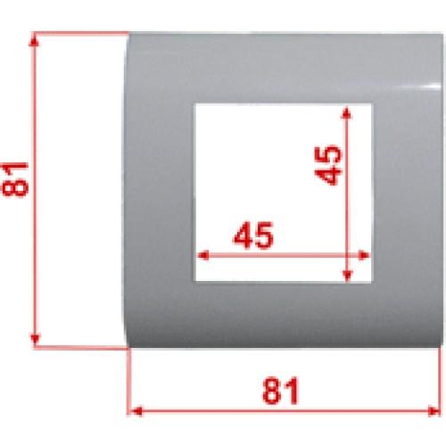 Пластиковая накладка на цоколь, 45х45, белая (2 мод.) LAN-FR45x45-WH