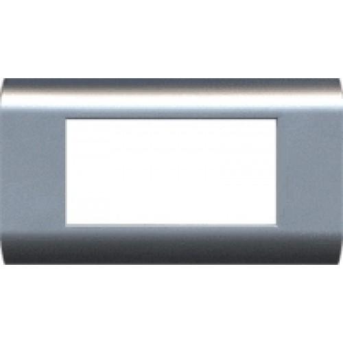 Пластиковая накладка на цоколь, 45x90, белая (4 мод.) LAN-FR45x90-WH