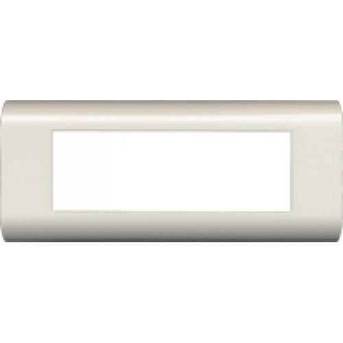 Пластиковая накладка на цоколь, 45X135, белая (6 мод.) LAN-FR45X135-WH