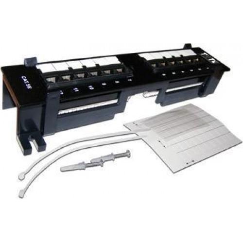 Патч-панель настенная, 12 портов RJ-45, категория 5e, UTP, вертикальная, TWT-PP12UTP-V