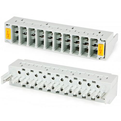Магазин защиты по напряжению, 10 пар, TWT, без трехконтактных разрядников (аналог Krone) TWT-LSA10-MAG