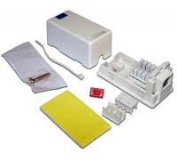 Розетка настенная телефонная, 1 порт RJ12, белая, TWT-SB1-12-WH