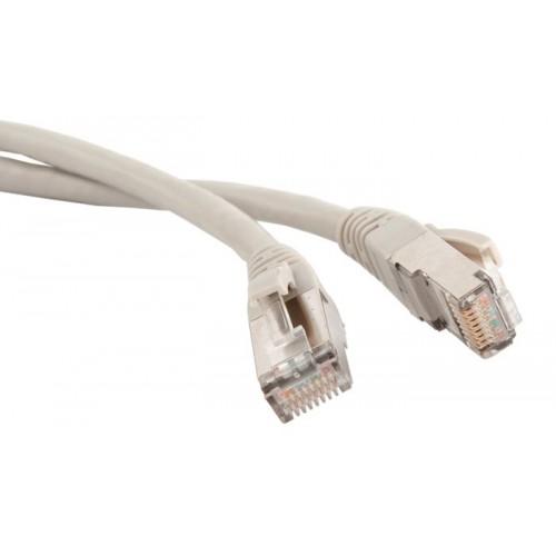 Патч-корд реверсивный (кроссовый) RJ45 - RJ45, 4 пары, FTP, категория 5е, 0.5 м, серый, Hyperline