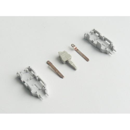 Сборочный комплект 2-полюсного штекера для параллельного подключения с маркировкой