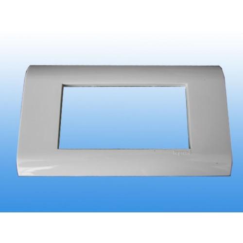 Рамка декоративная Мosaic 4M, горизонтальная 148х80, белая, Legrand 75010
