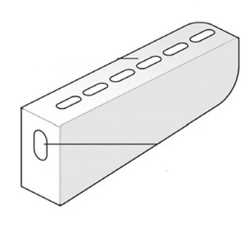 Кронштейн настенный (облегченный) W=400мм (шт.)
