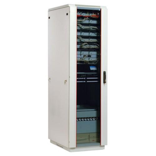 Шкаф телекоммуникационный напольный ЦМО ШТК-М 47U 2250х800х1000 стеклянная дверь серый ШТК-М-47.8.10-1ААА
