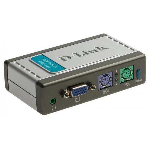 Переключатель на 2 компьютера, звук (кабели в комплекте)
