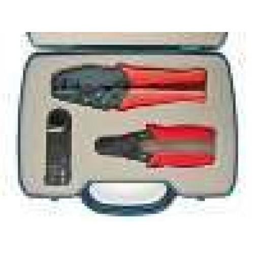 Набор инструментов из 3-х предметов, для монтажа разъемов на коаксиальный кабель RG58, RG59/62