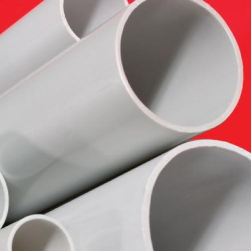 Труба ПВХ жёсткая гладкая д.40мм, лёгкая, 2м, цвет серый (RAL 7035), DKC