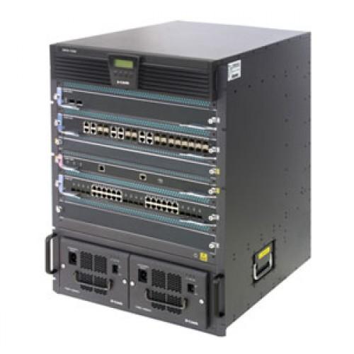 Шасси коммутатора L3, 2 слота для CPU-модулей, 6 слотов для линейных карт, блок питания 48V DC