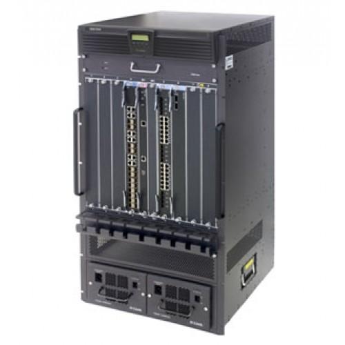 Шасси коммутатора L3, 2 слота для CPU-модулей, 8 слотов для линейных карт, блок питания 48V DC