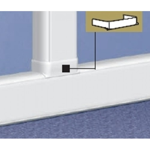 Отвод плоский  для 50х105 на кабель-канал шириной 80 мм, белый, Legrand