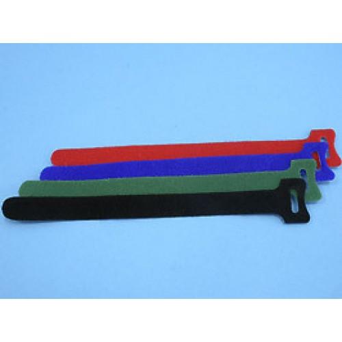 Стяжка с липучкой 210х16мм, открывающаяся, (черная), KSS (уп.20 шт.)