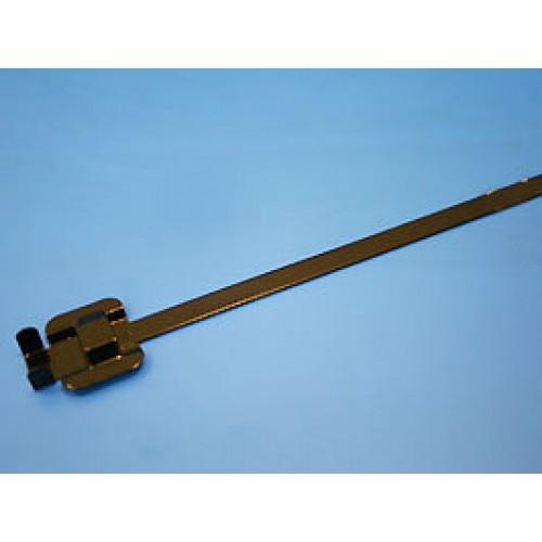 Стяжка стальная 229х6,3мм, открывающаяся, (черная, в пластике), KSS (уп.100шт.)