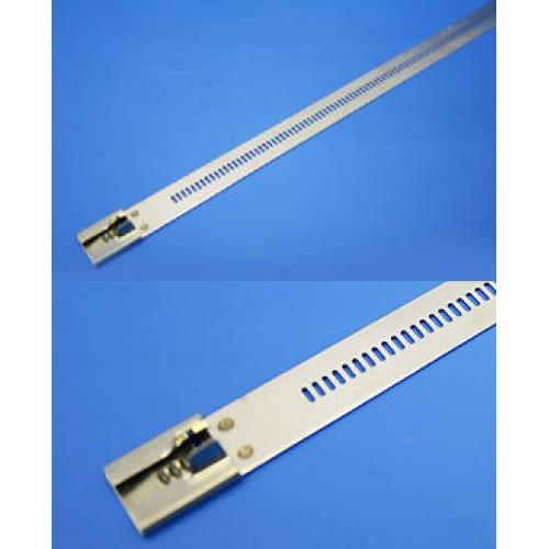 Стяжка стальная 255х12мм, не открывающаяся, (сталь), KSS (уп.100шт.)