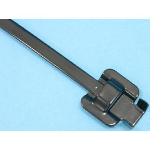 Стяжка стальная 305х6,3мм, открывающаяся, (черная, в пластике), KSS (уп.100шт.)