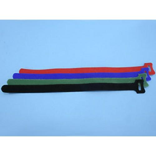 Стяжка с липучкой 310х16мм, открывающаяся, (черная), KSS (уп.20 шт.)