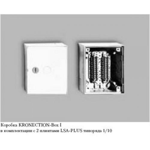 Бокс KRONECTON Box I, с монтажными хомутами для 3 LSA-PLUS модулей 2/10, дверь с цилиндрическим замк