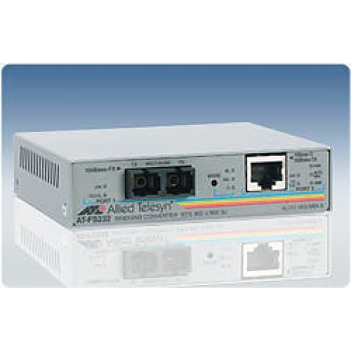 Медиаконвертер 10/100TX (RJ-45) to 100FX (SC) 2 port unmanaged switch with Enhanced Missing Link