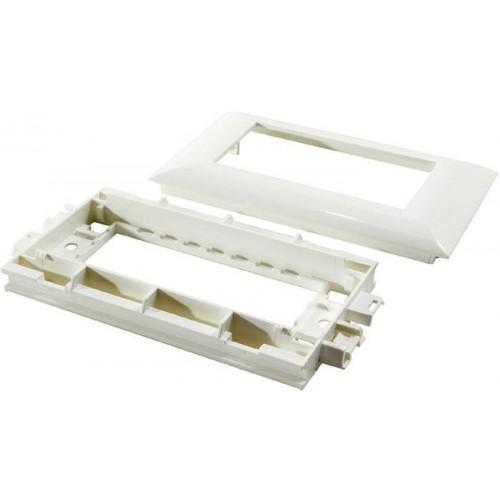 Суппорт с рамкой Legrand 030545 на 6 модулей Mosaic для кабель-канала DLP 130х50мм с крышкой 55 мм