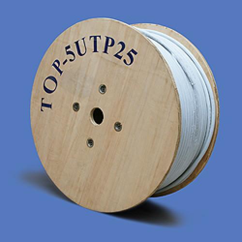 Кабель UTP, 25 пар, Кат. 5, серый, TopLAN