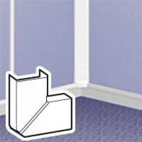 Угол плоский переменный для мини-канала DLP 40х20, белый, Legrand