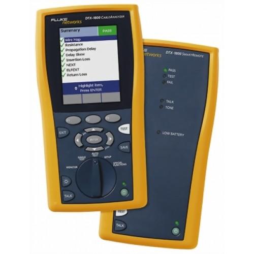Кабельный анализатор DTX-1800, ответный блок Smart Remote, П/О LinkWare, карта памяти 128MB MMC, ада