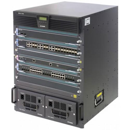 Шасси L3 коммутатора DES-7206 с материнской платой, 2 пустых слота для модулей CPU, без модулей